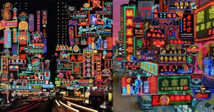 攝影師複製出「80年代的香港」 重現「整條霓虹街」港片場景!