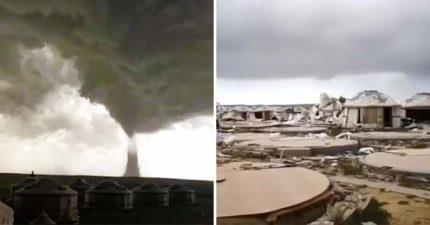 內蒙古出現龍捲風...30秒「剷平整個村莊」150戶只剩地基