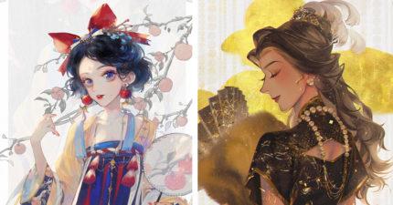 迪士尼公主穿上「中華服飾」超有氣質 樂佩公主「粵劇打扮」仙氣爆表!