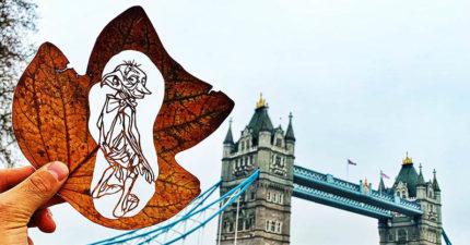 26張落葉雕刻藝術照 「用指尖」演出迪士尼太夢幻