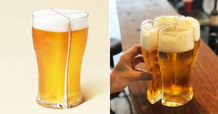 解決喝酒最大煩惱!廠商發明「四合一啤酒杯」 從此不用多跑了