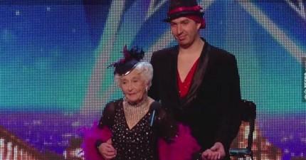 80歲老婆婆跟她的舞伴剛上台後大家都打哈欠...後來精采到連評審都道歉呢!