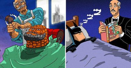 16張你不知道的「超級英雄秘密日常」 超人會去《七龍珠》代班?!